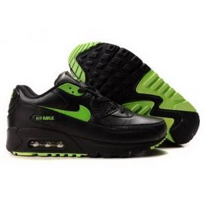 Soldes > nike air max noir et vert fluo > en stock